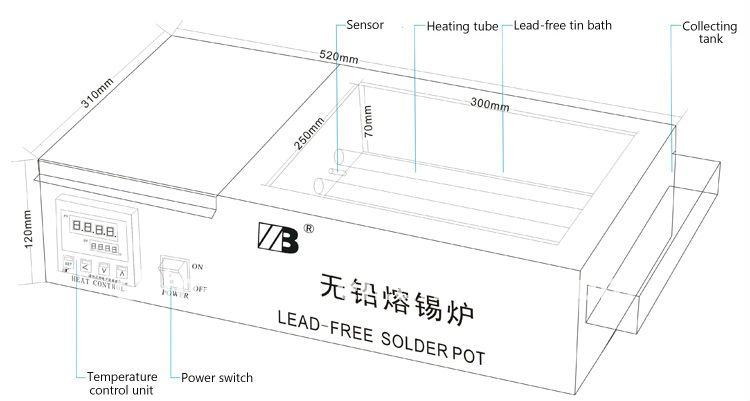 xc-3025d lead-free solder pot for sale