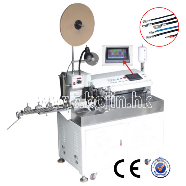 BJ-7000FT Fully Automatic Single Head Twisting, Crimping And Tinning Machine