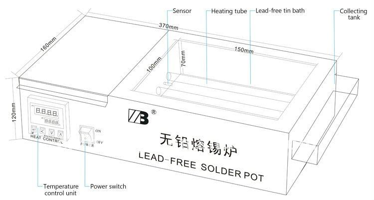 xc-1510d lead free solder pot for sale