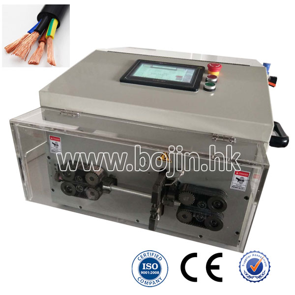 BJ-HT3 Double Layers Round Jacket Cable Cutting And Stripping Machine